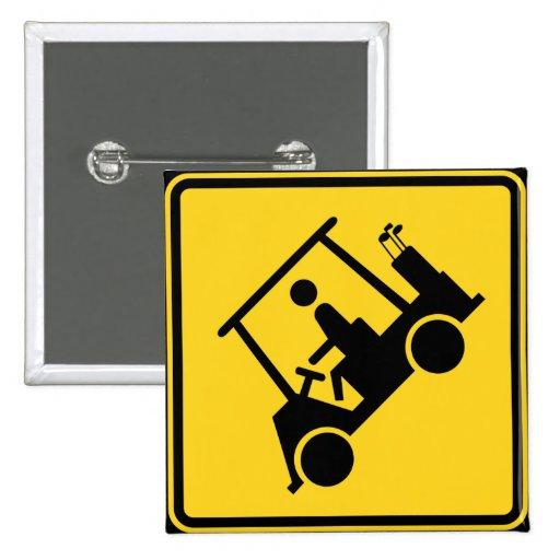 Carro de golf de la precaución pin