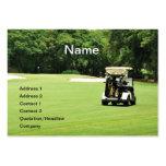 carro de golf en un espacio abierto plantillas de tarjetas de visita