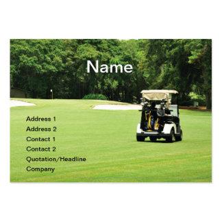 carro de golf en un espacio abierto tarjetas de visita grandes