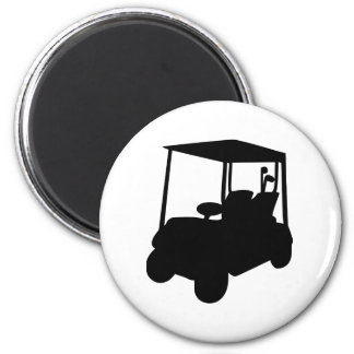 Carro de golf imán redondo 5 cm