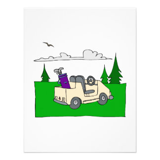 Carro de golf anuncio personalizado