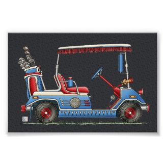 Carro de golf lindo cojinete