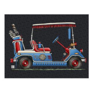 Carro de golf lindo tarjetas postales
