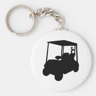 Carro de golf llavero redondo tipo pin