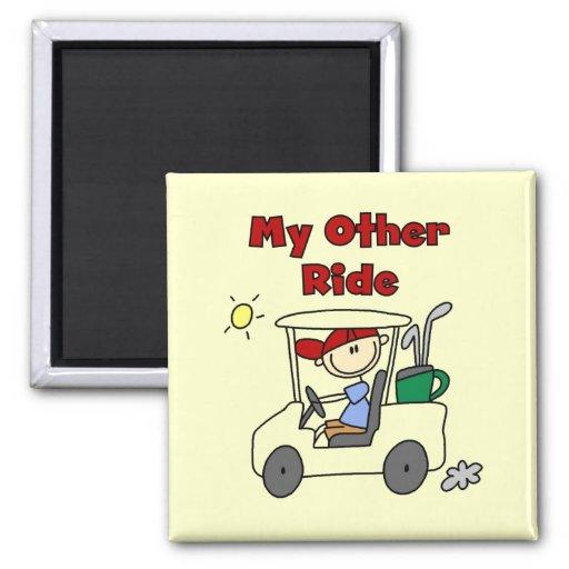 Carro de golf otro camisetas y regalos del paseo imán de nevera