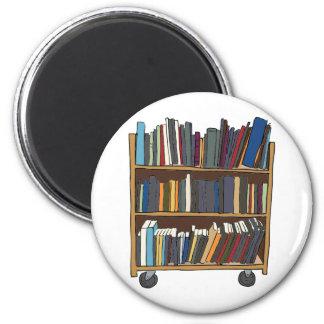 Carro de la biblioteca imán redondo 5 cm
