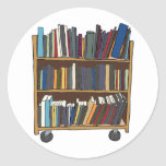 Carro de la biblioteca pegatinas