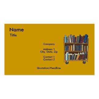 Carro de la biblioteca tarjetas de visita