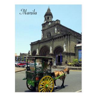 carro de la catedral de Manila Postales