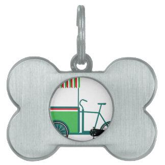 Carro de la comida de la bicicleta placa mascota