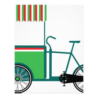 Carro de la comida de la bicicleta plantilla de membrete