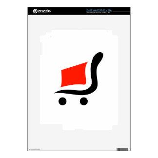 carro de la compra abstracto calcomanías para el iPad 2