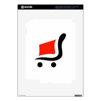 carro de la compra abstracto iPad 3 skin