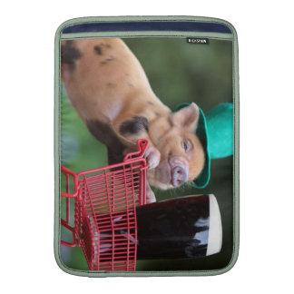 Carro de la compra del cerdo del perrito funda macbook air