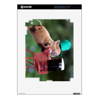 Carro de la compra del cerdo del perrito skins para eliPad 2