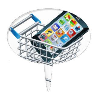 Carro de la compra del teléfono móvil decoración de tarta