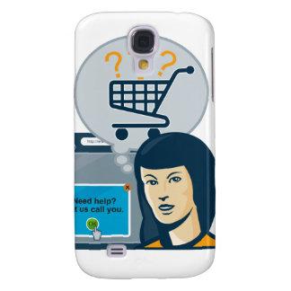 Carro de la compra femenino del comprador del Inte Funda Para Galaxy S4