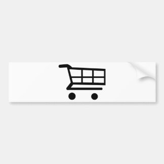Carro de la compra pegatina para auto