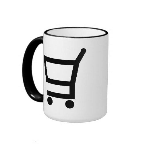 Carro de la compra taza