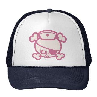 Carro de la enfermera - rosa gorra