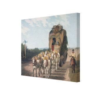 Carro de la etapa, grabado por J. Baily Lona Envuelta Para Galerías