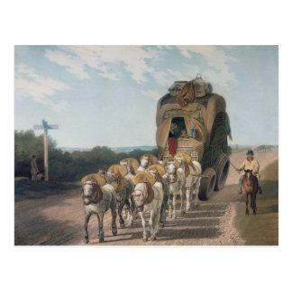 Carro de la etapa, grabado por J. Baily Postal