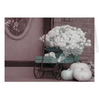carro de la flor tarjeta de felicitación