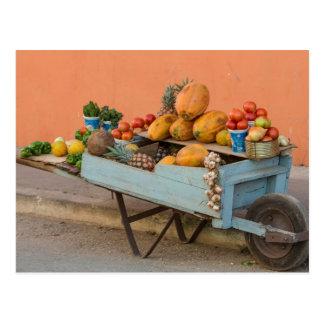 Carro de la fruta y verdura, Cuba Postales
