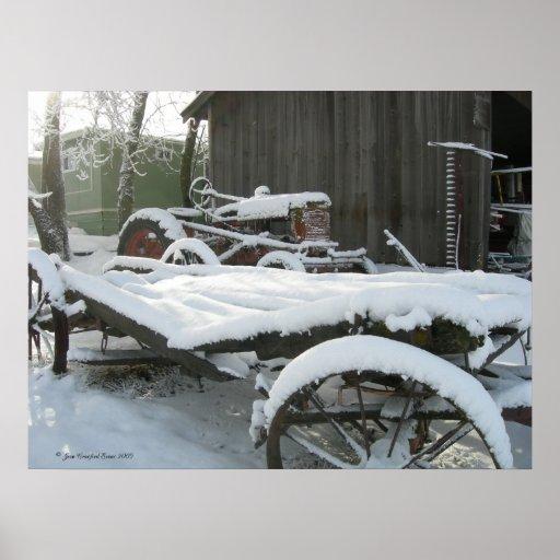 Carro de la nieve impresiones