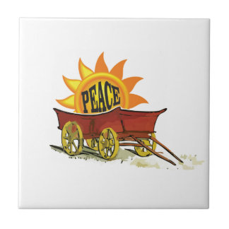 carro de la paz azulejo cuadrado pequeño
