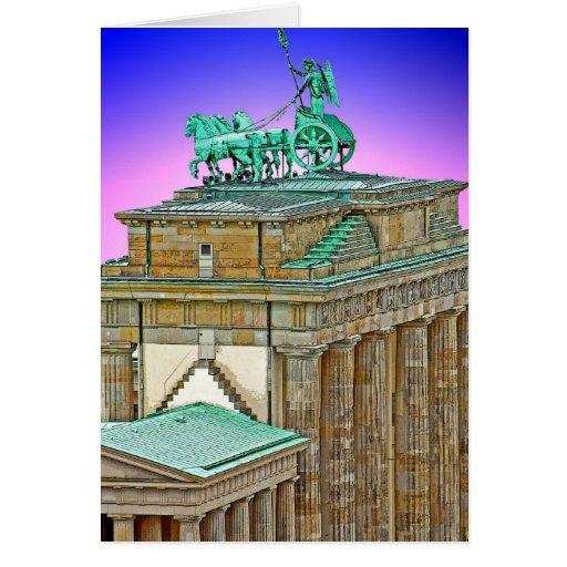 Carro de la puerta de Brandeburgo, Berlín, Alemani Tarjeton