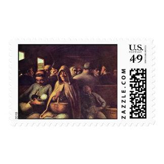 Carro de tercera clase de Daumier Honoré (el mejor Sellos