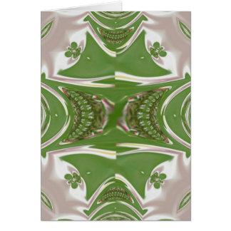 Carro del arte del fractal del helecho tarjeta de felicitación