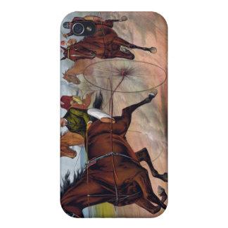 Carro del caballo del vintage que compite con el iPhone 4/4S funda