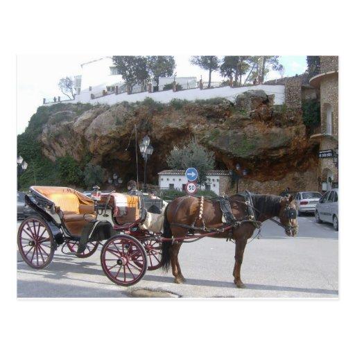 Carro del caballo en Mijas Postal