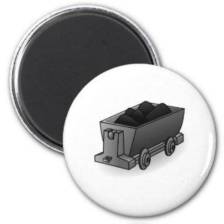 Carro del carbón imán redondo 5 cm
