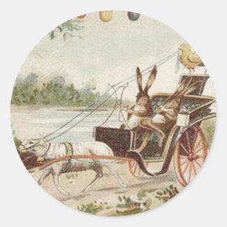 Carro del cordero del huevo del polluelo del conej etiquetas