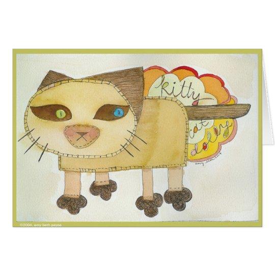 Carro del gato del gatito tarjeta de felicitación