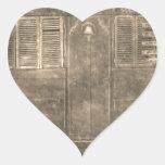 Carro del gitano del vintage pegatina de corazón personalizadas