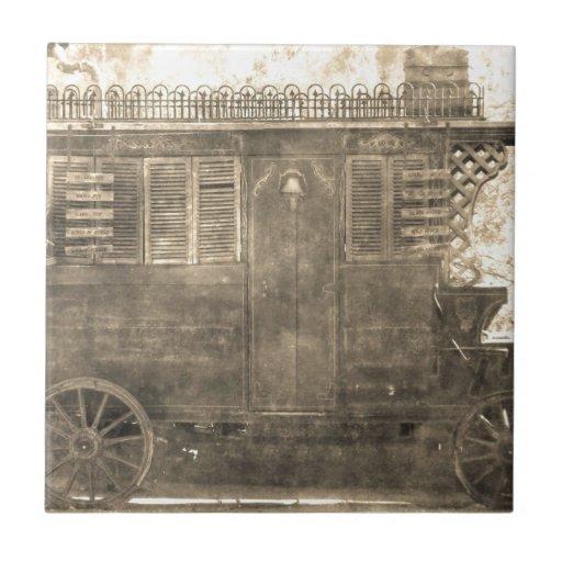 Carro del gitano del vintage tejas