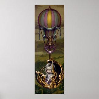 Carro del globo - impresión rococó del arte de Ste Póster