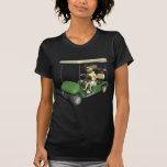 Carro del golfista de la mujer camiseta