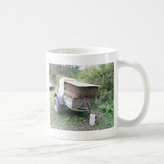 Carro del heno taza de café
