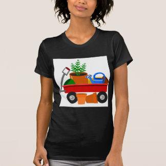 Carro del jardín camiseta