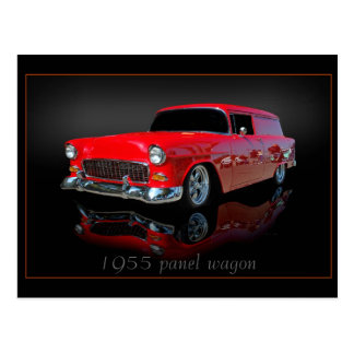 carro del panel 1955 tarjeta postal