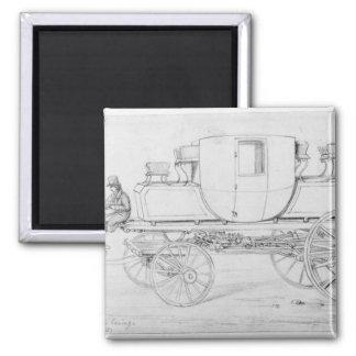 Carro del vapor de la camilla, 1827 imán cuadrado