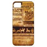 Carro del vintage y anuncio del trineo iPhone 5 Case-Mate cárcasas