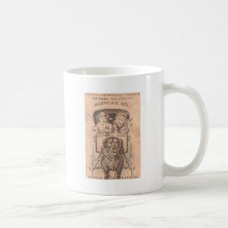 Carro dibujado perro taza de café