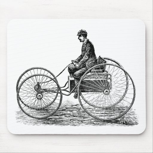 Carro eléctrico - ejemplo del Victorian del vintag Mousepads