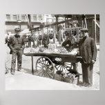 Carro en poca Italia, 1908 de la comida